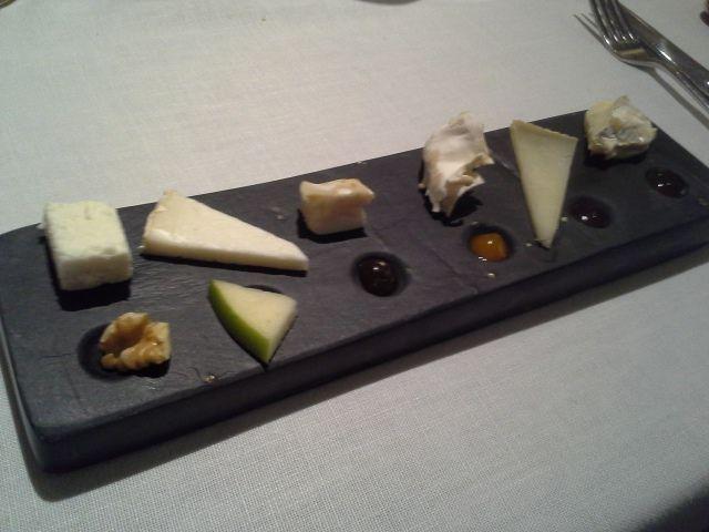 Restaurante Montia Tabla de quesos