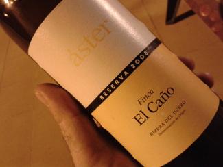 Vino Áster Finca El Caño Reserva 2008
