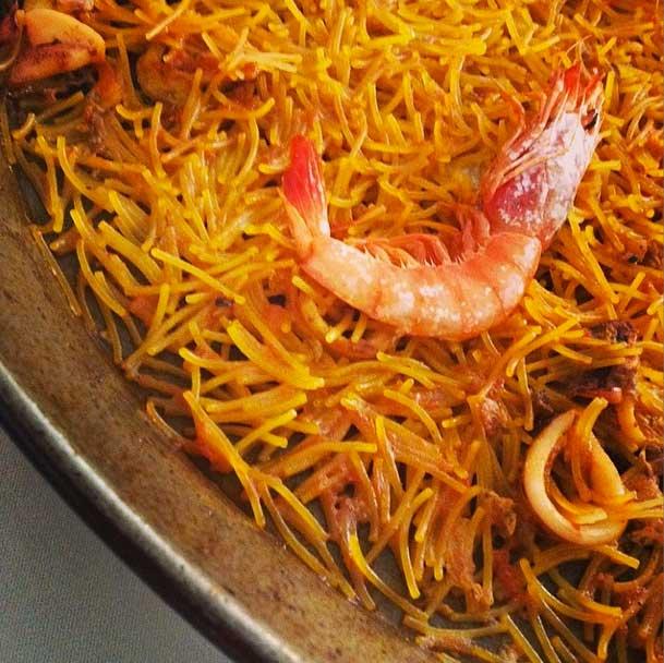 La cuina de Pilar en Valencia Paella de fideo fino