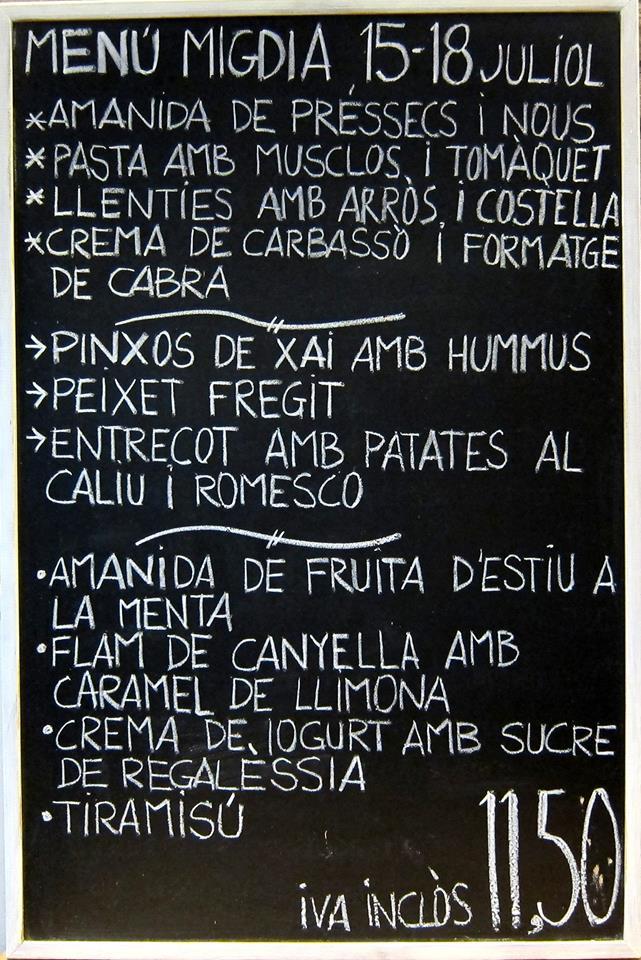 Mitjagalta en Barcelona Igual no es para ir todos los días con un menú tan corto, pero merece mucho la pena ir de vez en cuando.