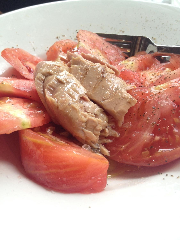 Restaurante El Vermut Taberna Bar Tomate con atún