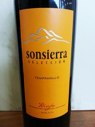 Sonsierra Selección Tempranillo 2013