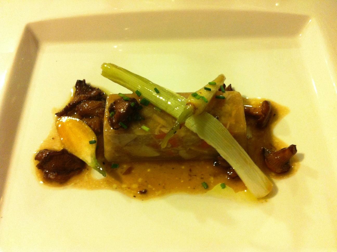 Restaurante Boix quatre (RESTAURANTE CERRADO) Conejo en Escabeche con Rusiñol y Puerros