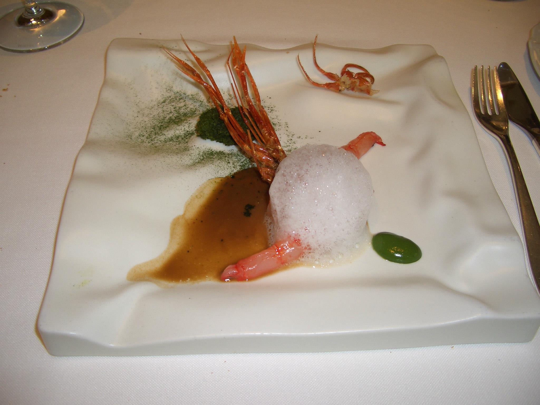Restaurante El Celler de Can Roca 16.- Toda la gamba
