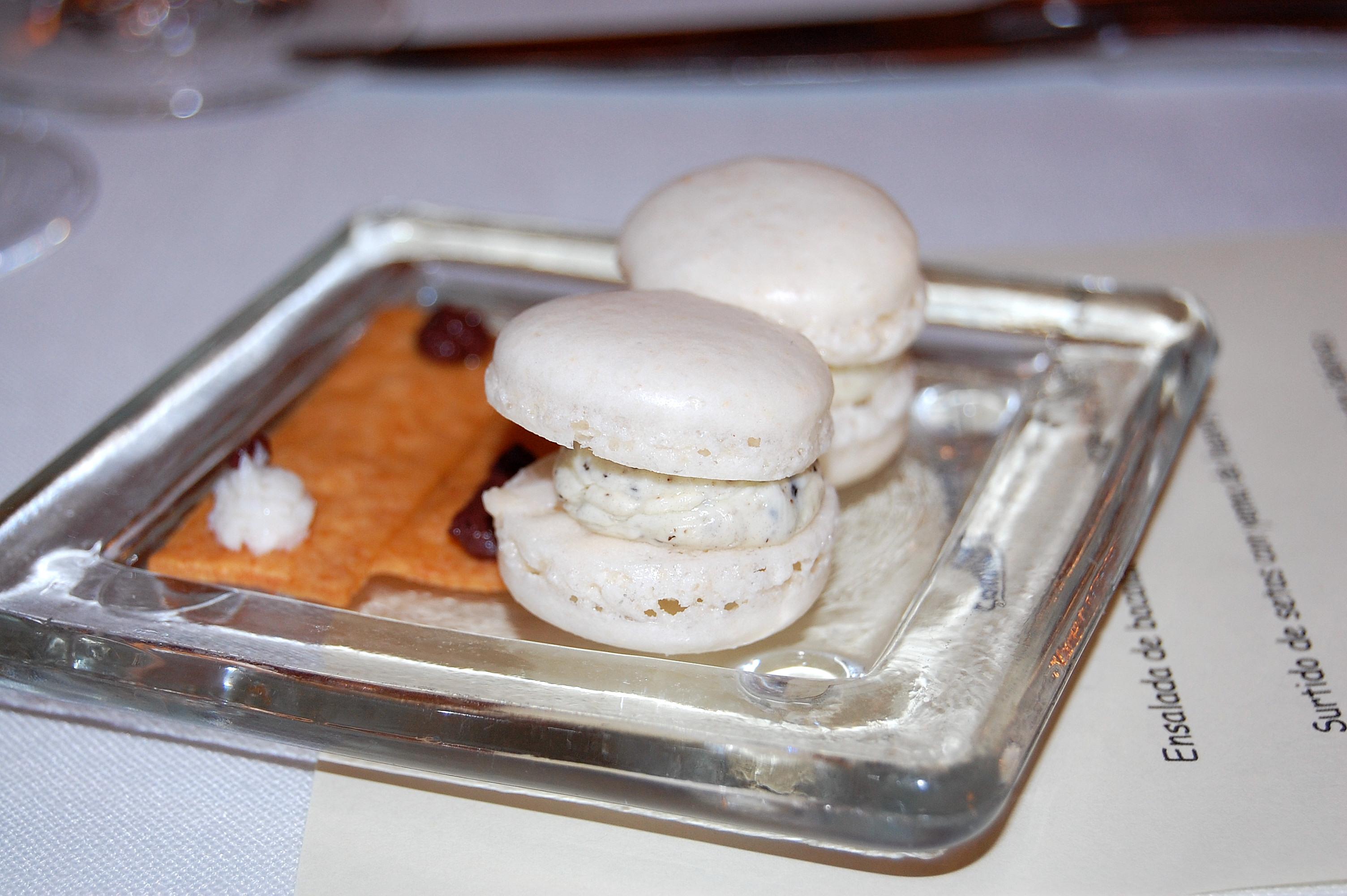 Taberna de Lillas Pastia Macarons salados, ahí es nada.