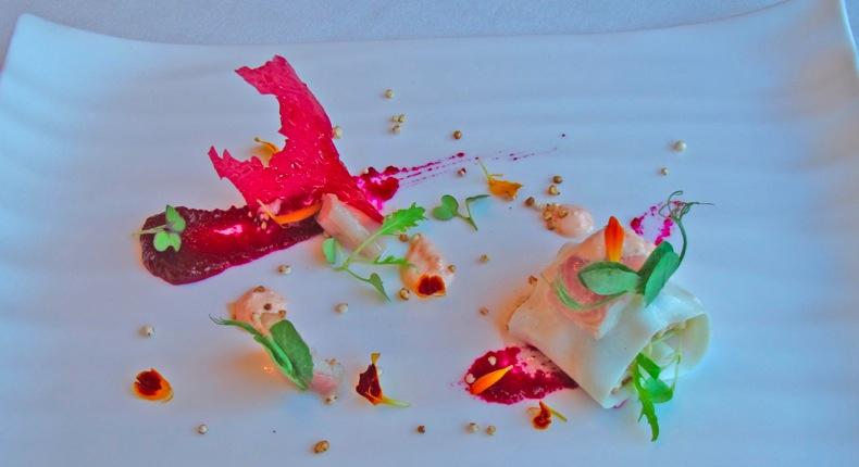 Restaurante Victor Gutierrez Ensalada de quinoa