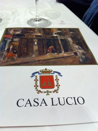 Restaurante Casa Lucio en Madrid