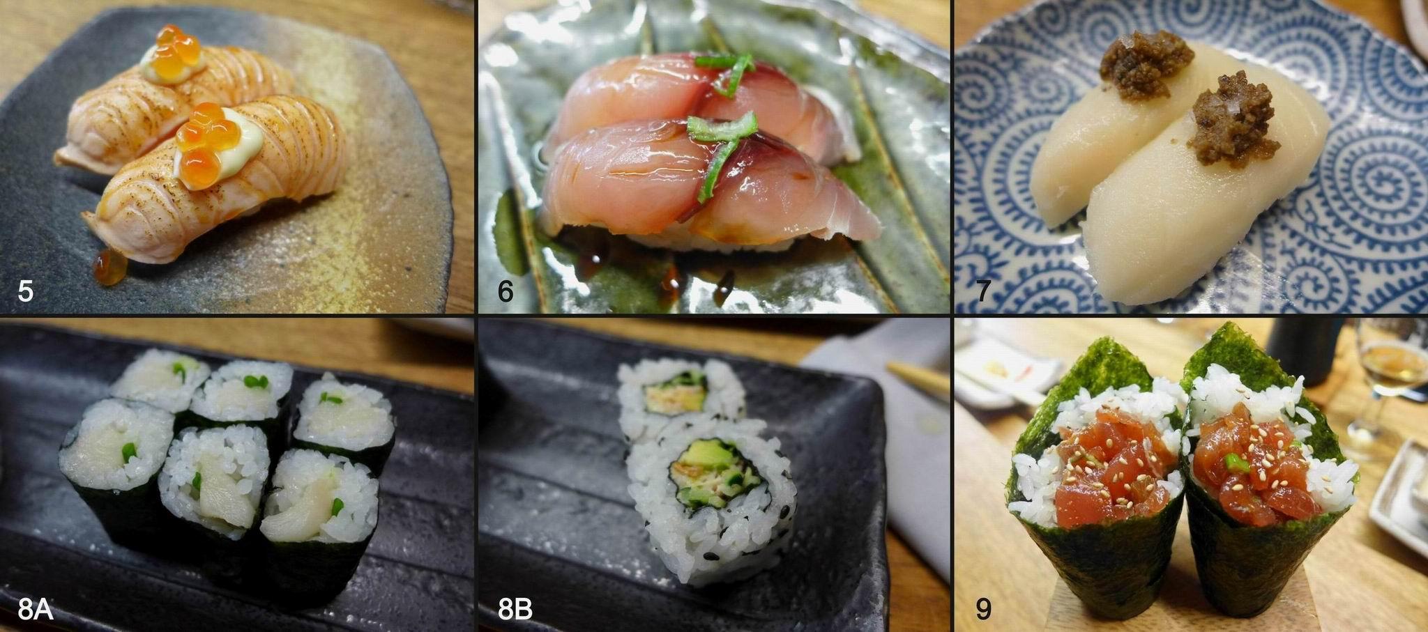 Restaurante Nozomi Sushi Bar Variedades de sushi