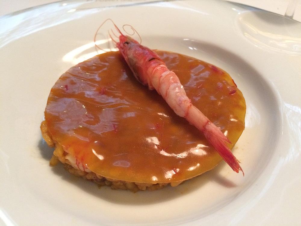 Restaurante El Poblet Arroz a banda con velo de azafrán
