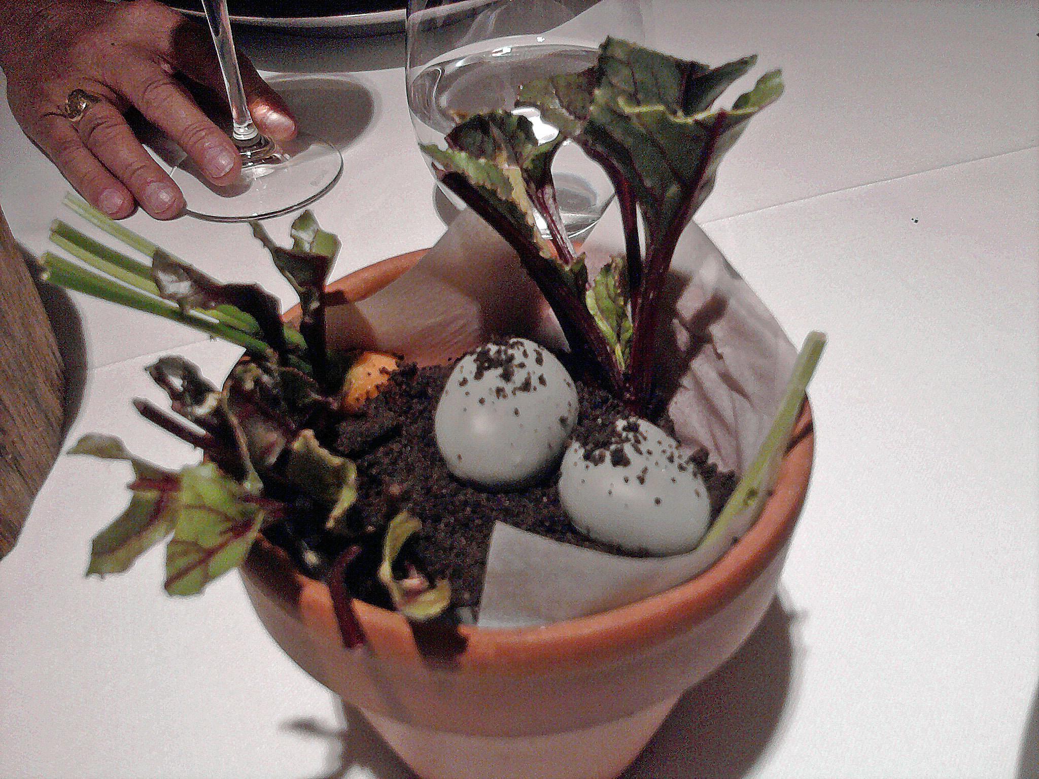 Restaurante Can Jubany Huerto en la mesa
