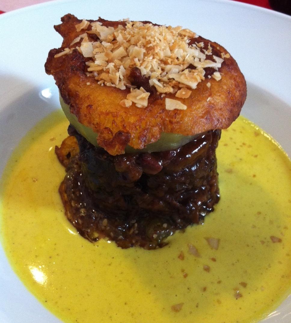 Restaurante en Denia Buñuelo de Calabaza, Rabo de Toro y Salsa Curry