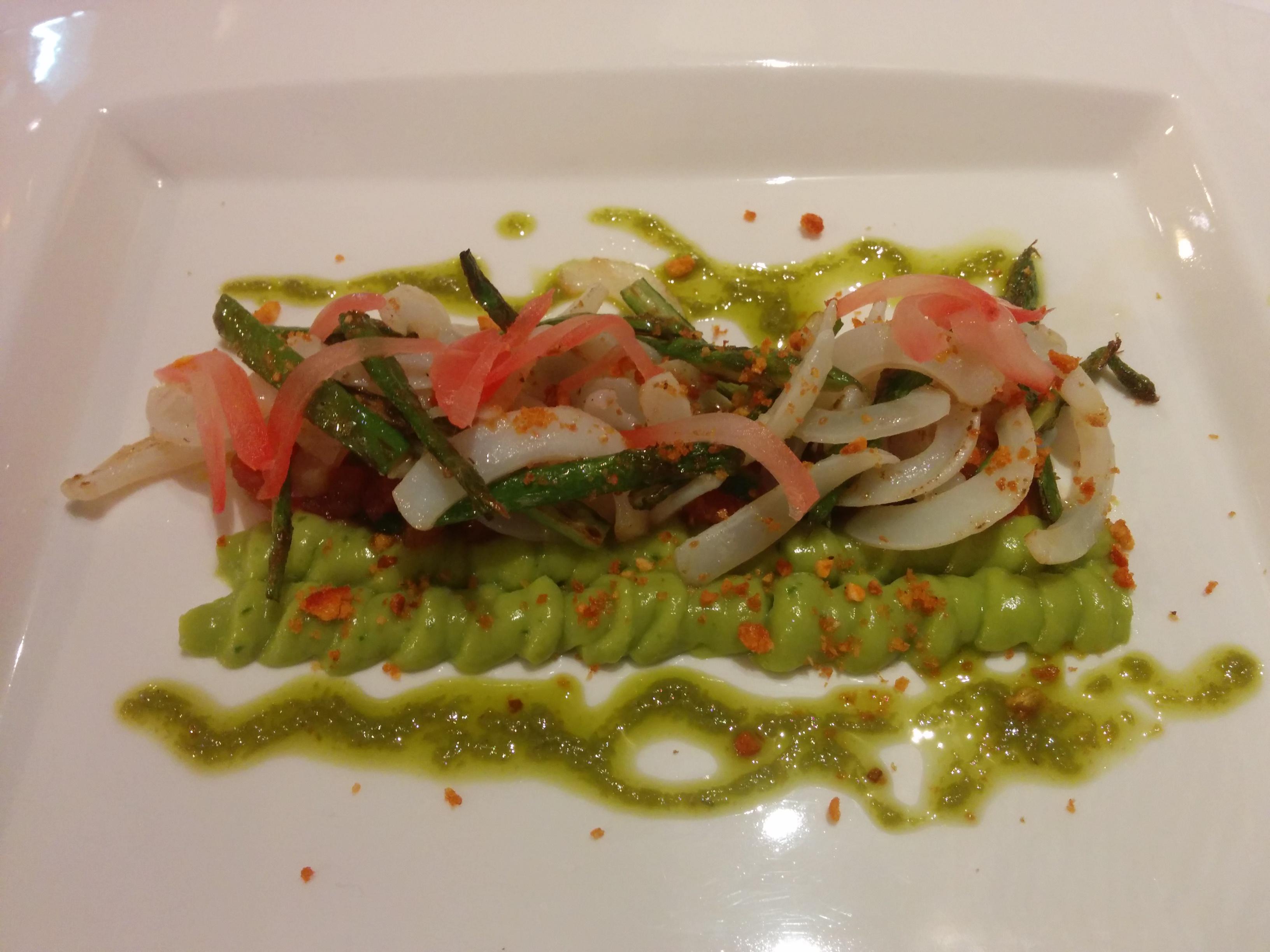 Restaurante Boix quatre (RESTAURANTE CERRADO) Calamar con mojo verde 2.0