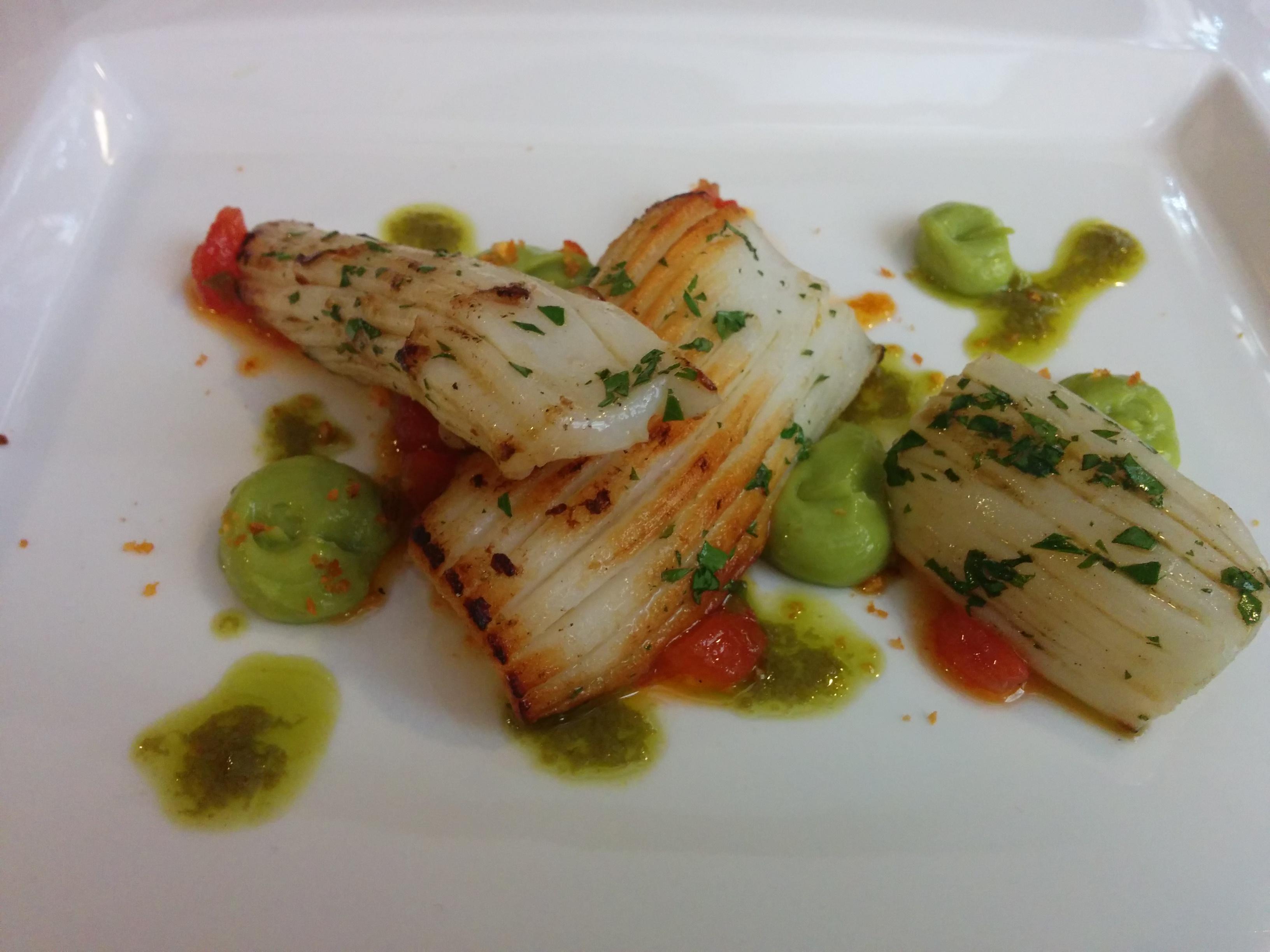 Restaurante en Valencia Calamar con mojo verde