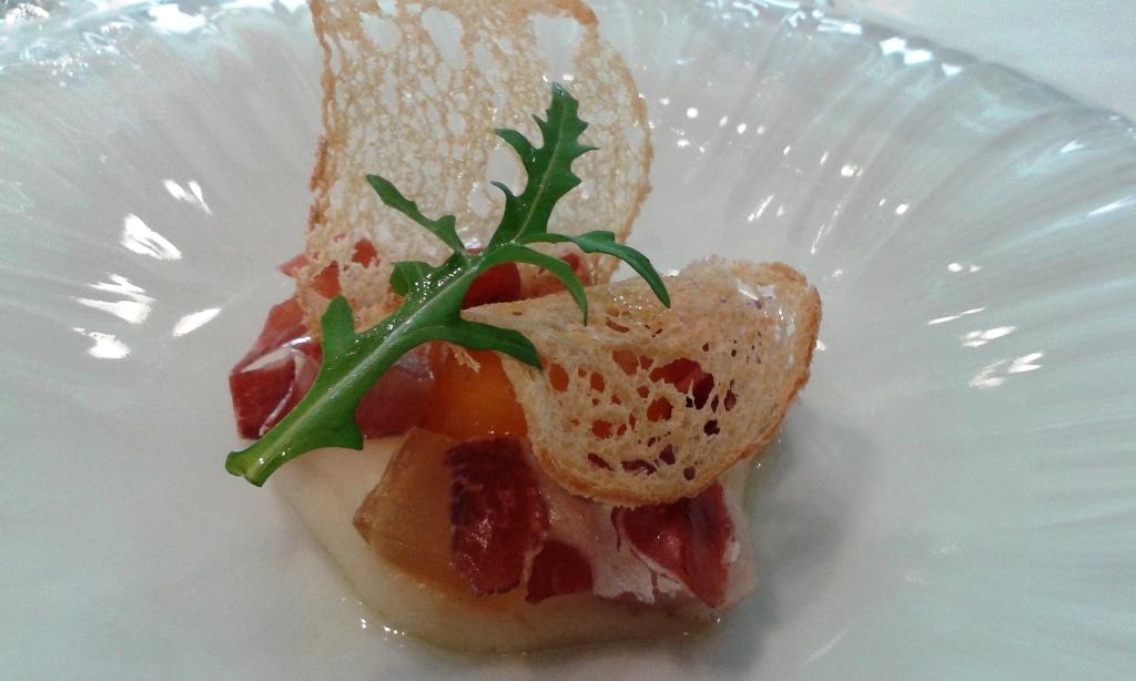 Angle Yema de huevo curada con ibéricos 2. Restaurant Angle Barcelona