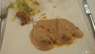 Paloma torcaz con foie y salsa de boletus