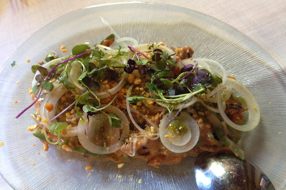 Restaurante Tavella Ensaladilla de mejillones
