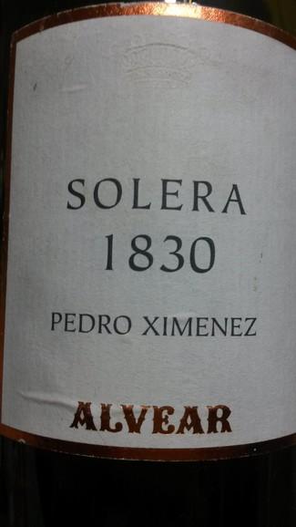 Pedro Ximénez Solera 1830