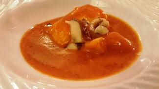 Marmitako de merluza de pincho. Restaurante Casa El Tío David