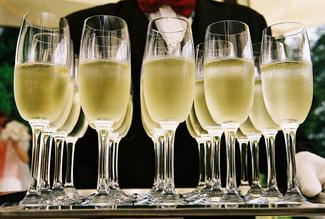 Champagne bandeja logo