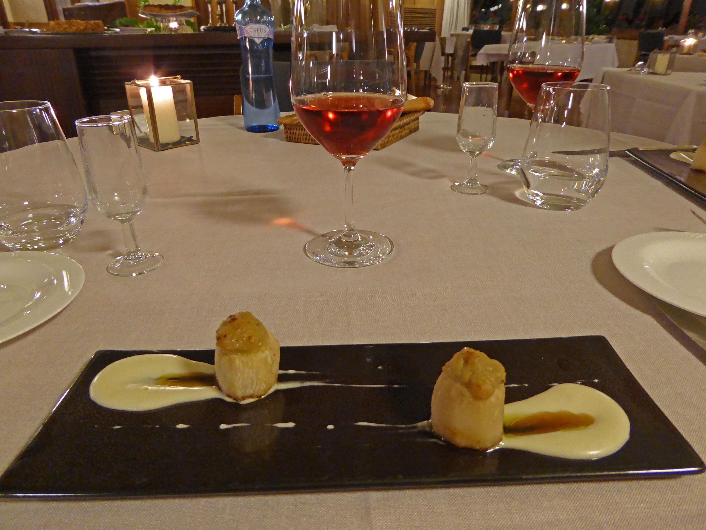 Restaurante El Motel Nabos de Capmany, queso azul Cingles de Berti