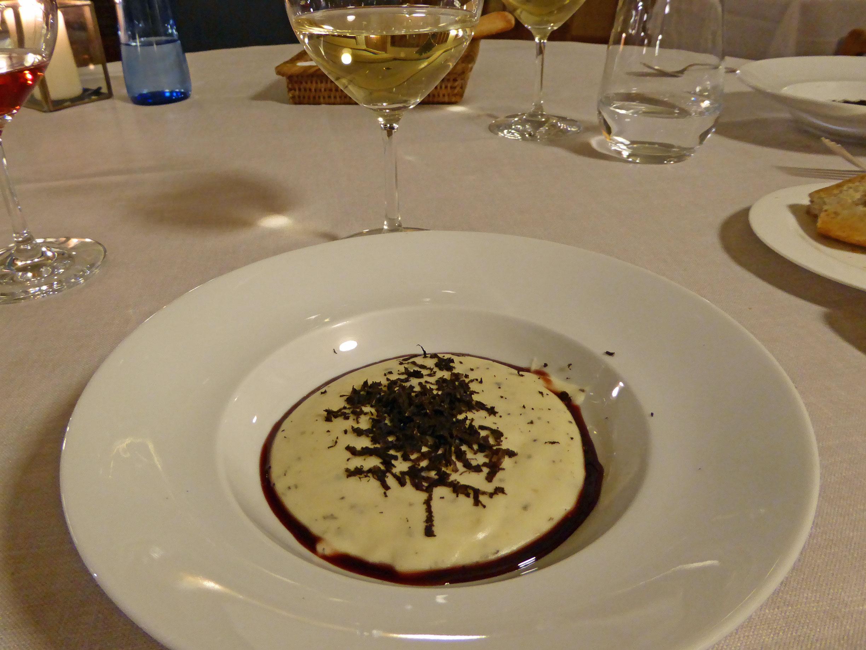 Restaurante en Figueres Parmentier de trufa melanosporum a la mistela dulce