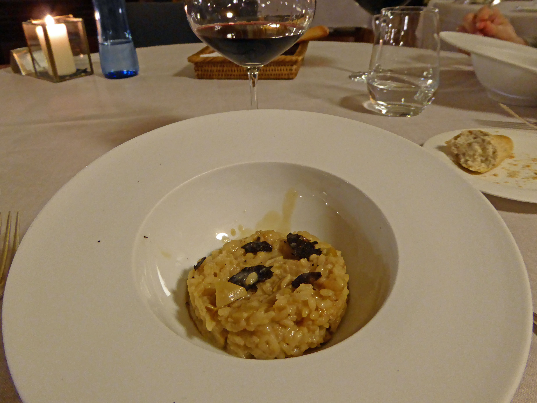 El Motel en Figueres Risotto de trufa negra melanosporum con ceps (boletud edulis)