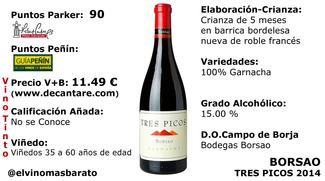 Borsao 3 picos 2014 el vino mas barato