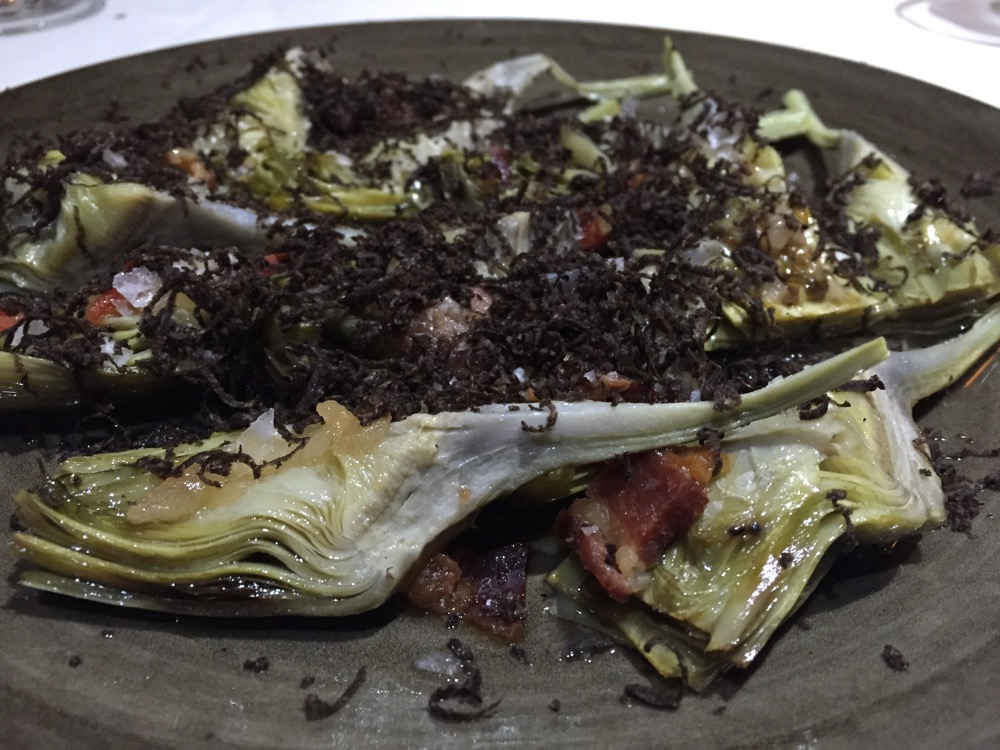 Restaurante Pirineos Alcachofas con trufa