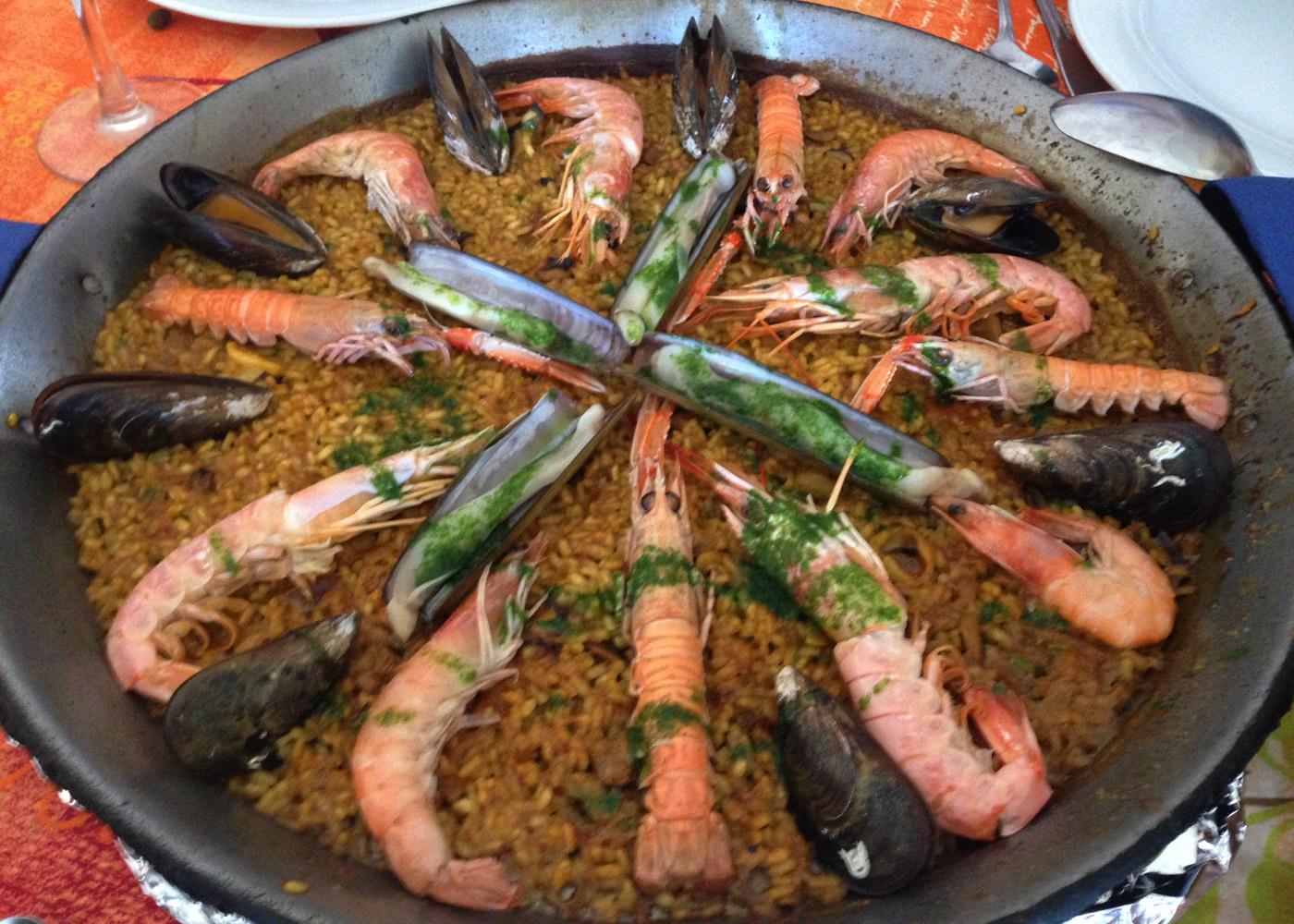 Restaurante La Matandeta Paella de marisco