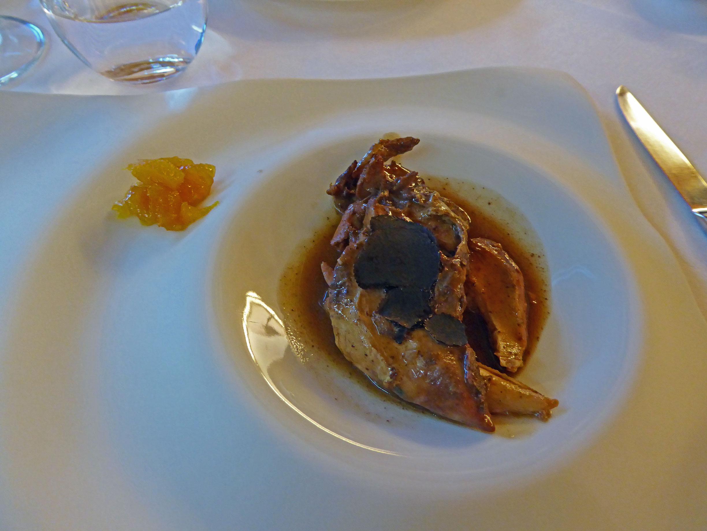 Restaurante en Olost de Lluçanès Perdiz al vino de Oporto con trufa melanosporum