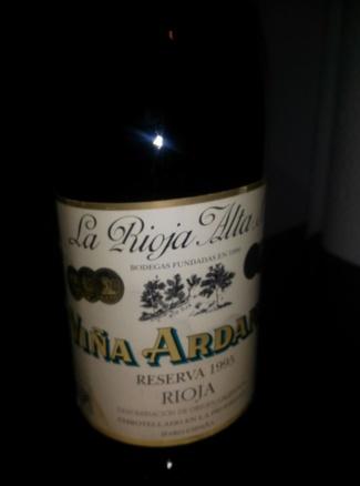 Viña Ardanza Reserva 1995 formato 3/8