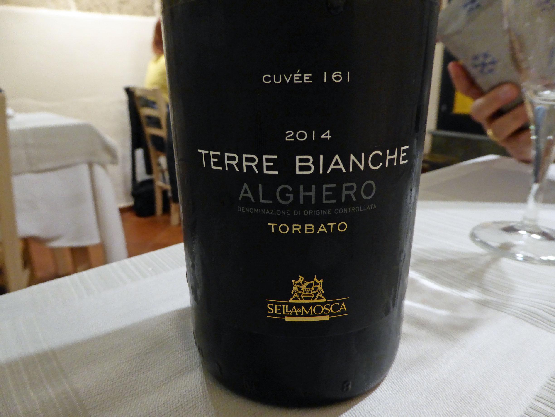 Restaurante Trattoria Lo Romani Cuvée 161 Terre Bianche 2014 DOC Alghero