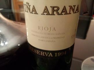 La Rioja Alta Viña Arana Reserva 1994