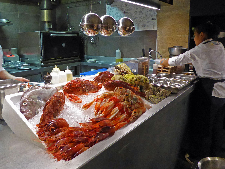 Restaurante en Barcelona Mostrador de la cocina