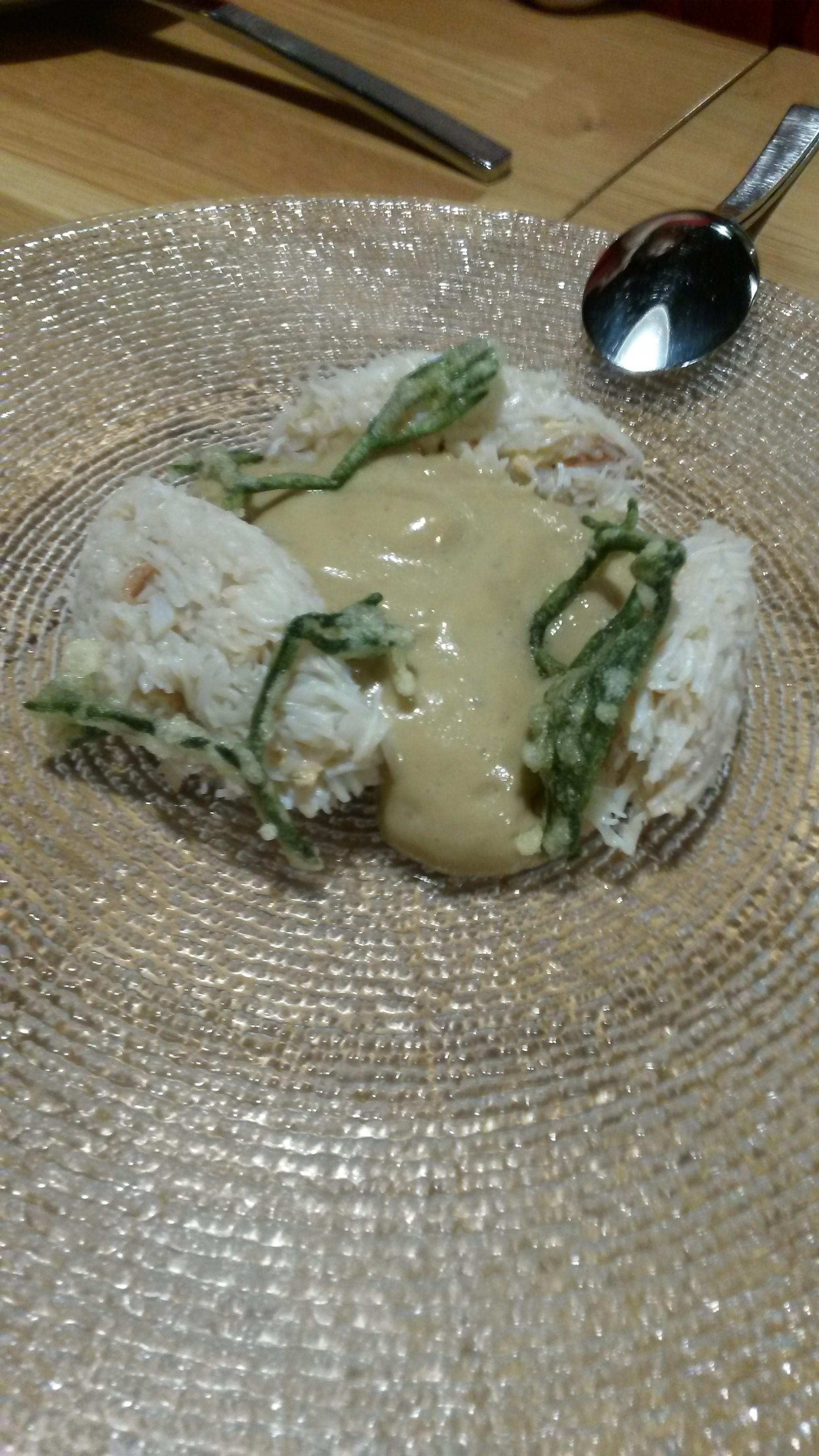 Restaurante en Madrid Buey de mar con tempura de algas