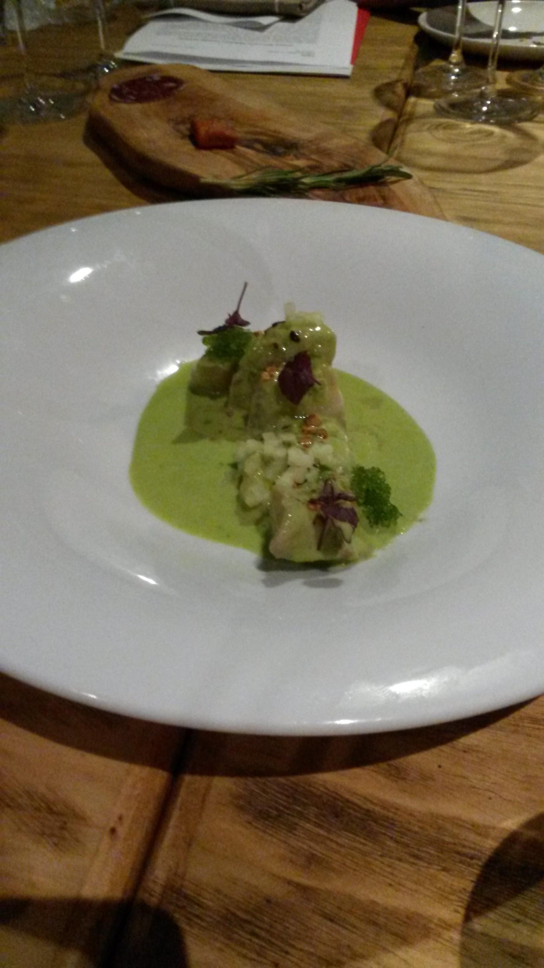 Restaurante Angelita Madrid Pez limón con emulsión de escabeche verde