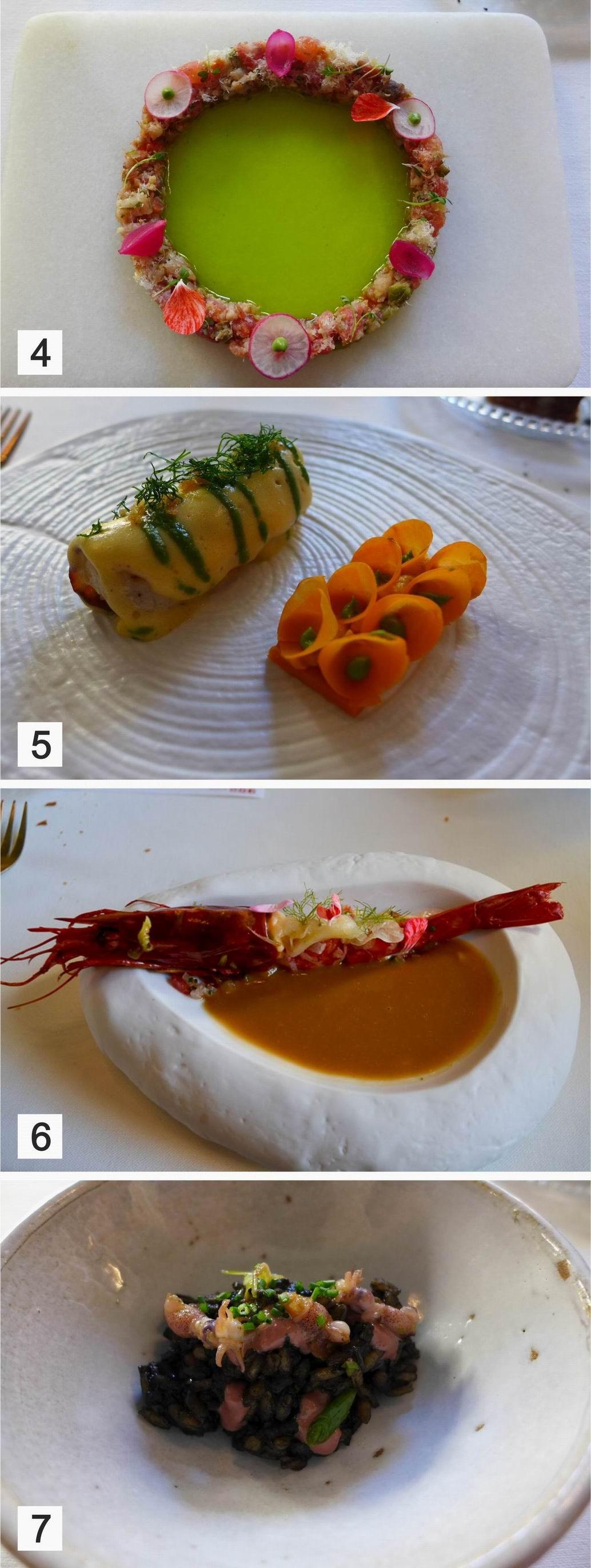 Restaurante en Valencia La tiara, Raya, Carabinero y Arroz de sepia bruta