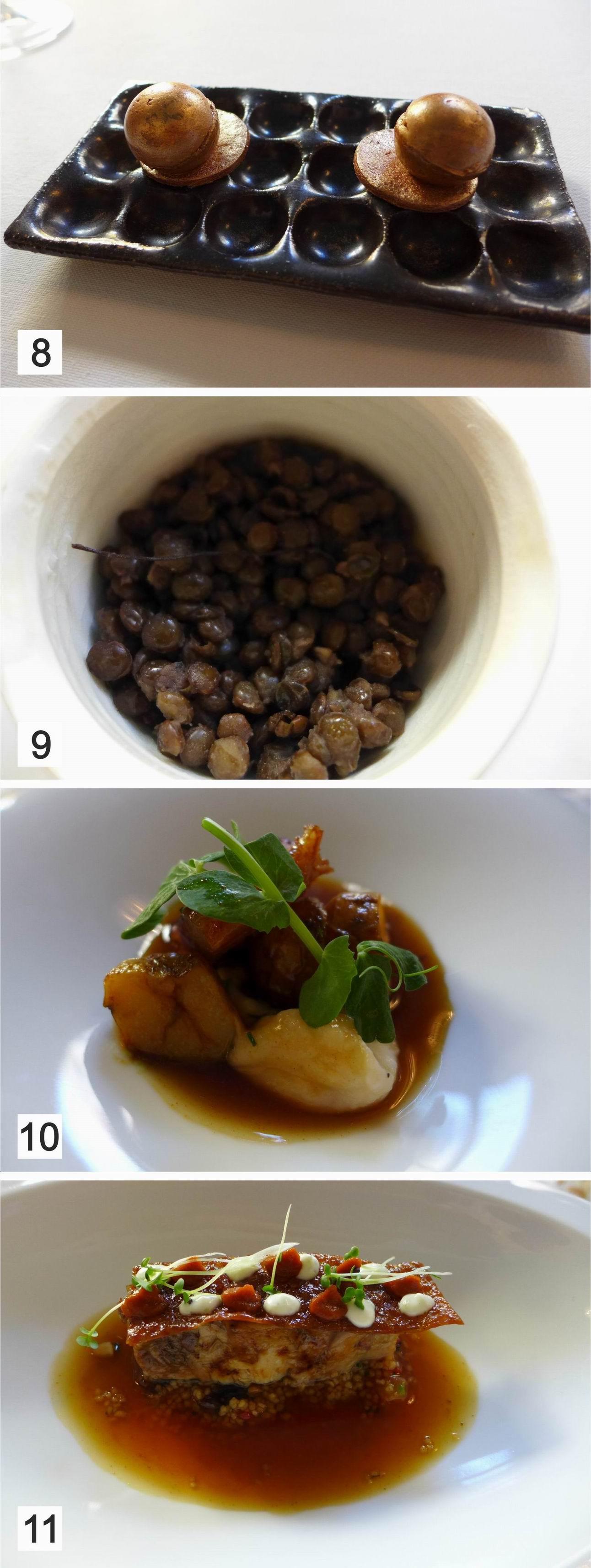 La Salita en Valencia Caviar vegetal, Anguila ahumada y Cabrito confitado