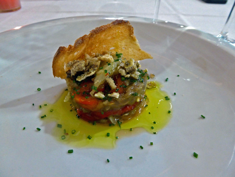 Restaurante en Beniferri Pimiento y berenjena con bacalao
