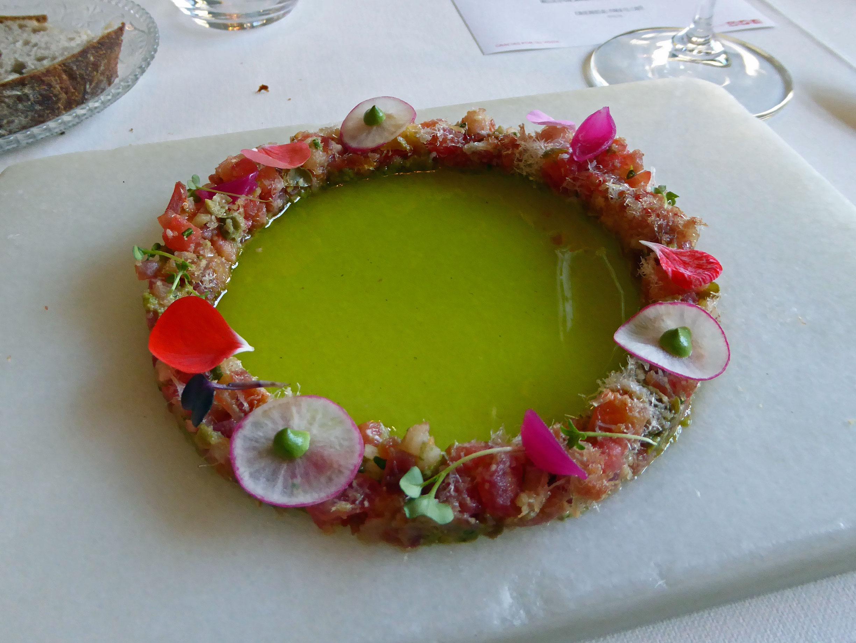 Restaurante La Salita Tiara de encurtidos y salazones