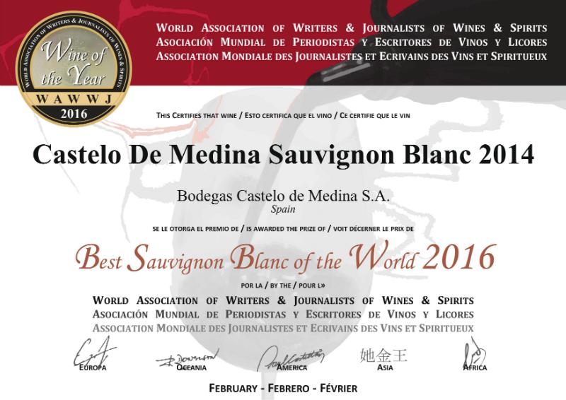 Diploma premio WAWWJ