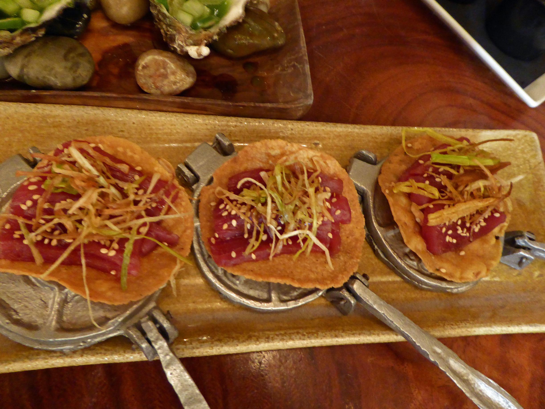Restaurante Oaxaca Tostada de atún rojo al chipotle
