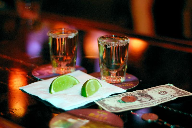 Chupito sal y tequila