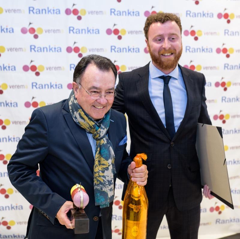 Pedro Morán y Saúl Diaz en la entrega de los premios Verema
