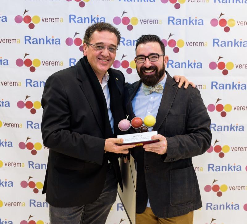 Jose Contreras y Dani Cervera en la entrega de los premios Verema