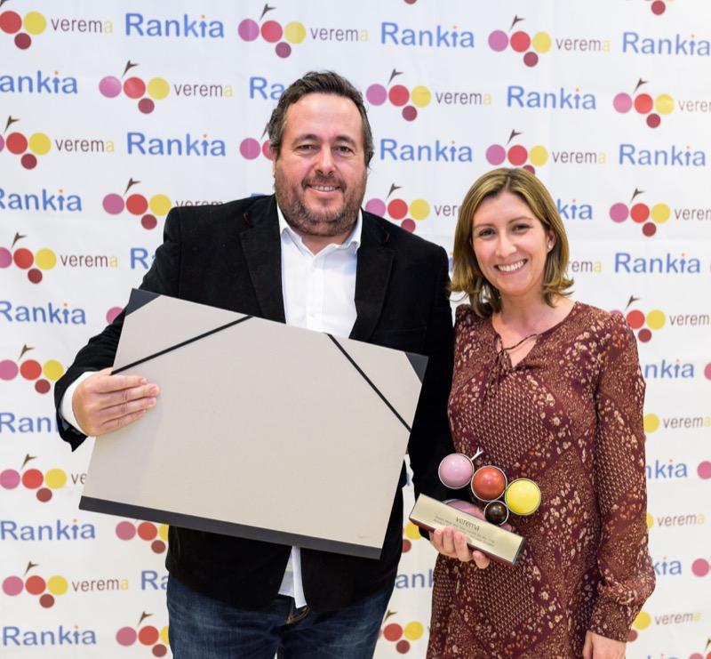 Ignacio Arzuaga y Gemma Peyró en la entrega de los premios Verema