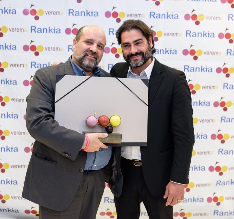 Toni Pérez y Jordi Batlló en la entrega de los premios Verema