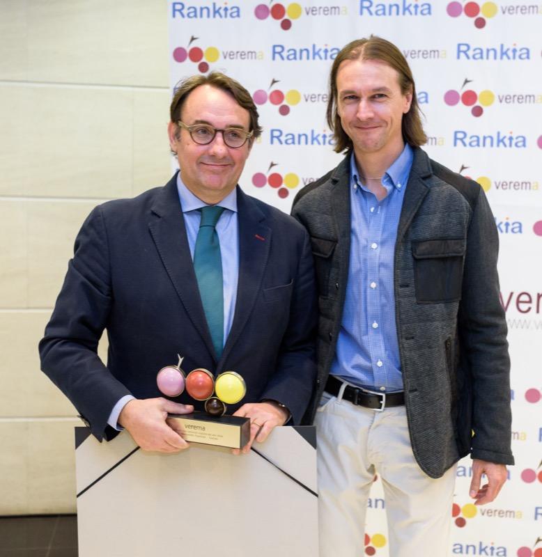 Luis Luengo y Miguel Arias en la entrega de los premios Verema