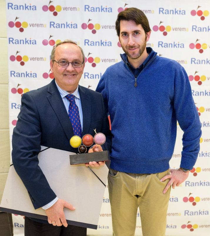 Luis Miguel Trillo y Enrique Valls en la entrega de los premios Verema