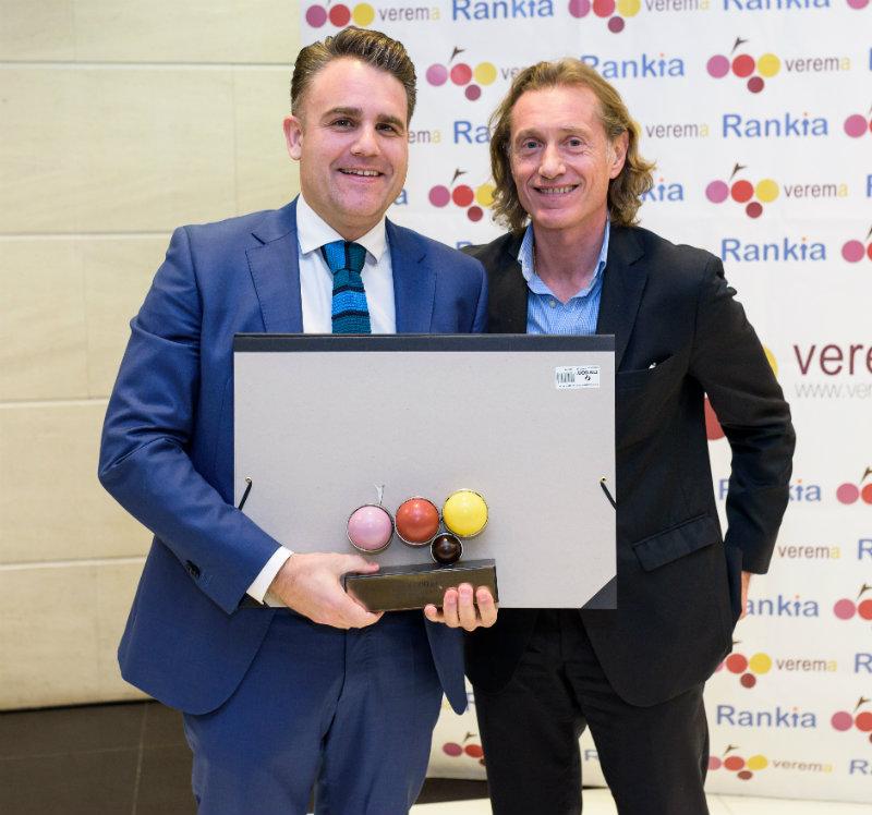 Lalo Antón y Jose Antonio Sánchez Inchausti en la entrega de los premios Verema